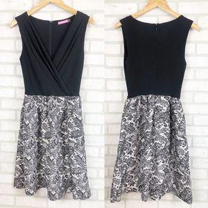 Isaac Mizrahi Fit n Flare Dress Surplice Front 2